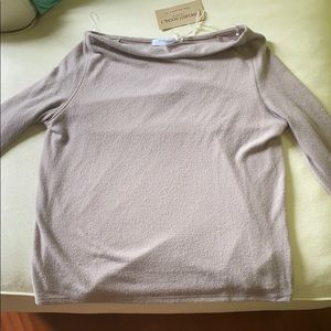 off the shoulder light sweater.  size small